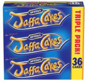 Tesco McVities Jaffa Cakes Triple Pack (3x12 cakes) Now £1.59