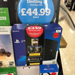 PS4 Pro 1TB + DOOM + Dishonored 2 + Fallout 4 - £349 instore @ Sainsbury's (Christchurch)