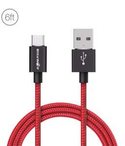 BlitzWolf 3A USB Type C Braided Charging Data Cable 6ft/1.8m £3.43 @ BangGood