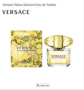 Versace Yellow Diamond Eau de Toilette 50ml - John lewis price matching 50ml btl £28 so buy 2 get 100ml for £56