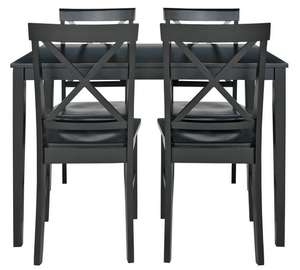 HOME Jessie Dining Table & 4 Solid Wood Chairs - Black for £89.99 @ Argos (P&P £6.95)