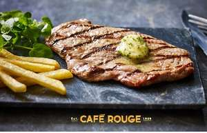 Steak, Frites + Glass of Wine for 4 People £22 (£5.50p/p) with code @ Café Rouge via Groupon