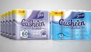 120 Rolls of Cusheen Lavender Toilet Paper (3ply) £14.98 delivered using code @ Groupon (App)