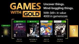 October's Games with Gold (Gone Home, The Turning Test, Rayman 3 HD, Medal of Honor Airborne)