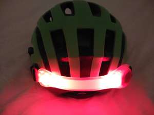 Red LED cycling armband £1 - ideal for back of bike helmets, kids arms, bags or pet collars - B&M Home Stores