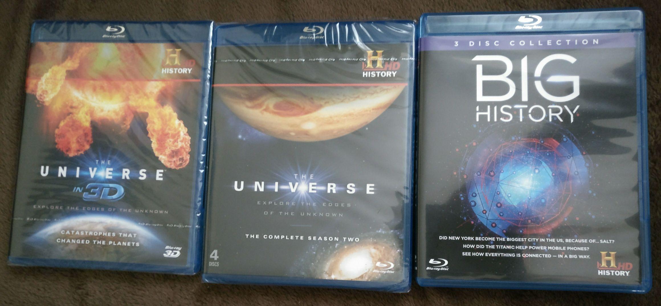 Blu-ray history boxsets £1 in poundland