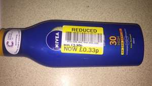 Nivea sun cream 33p @ Tesco South Wigston