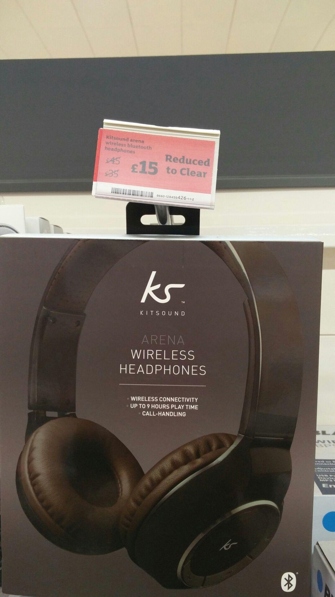 KitSound Arena Universal Bluetooth Over-Ear Headphones - £15 instore @ Sainsbury's (Durham)