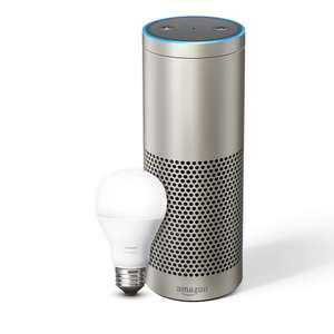 Echo Plus – With built-in smart home hub (Silver) – Includes Philips Hue Light Bulb - £139 @ Amazon (pre order 31st Oct)