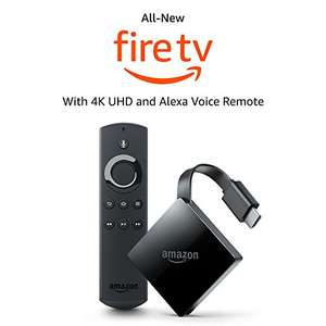 All-New Fire TV with 4K Ultra HD and Alexa Voice Remote | Streaming Media Player @ Amazon - £69.99