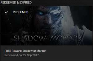 Shadow of Mordor Free (GeForce Experience) key giveaway - 50,000 keys available (selected accounts)