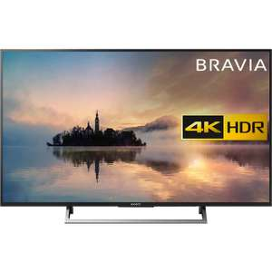 "Sony Bravia KD55XE7002BU 55"" Smart 4K Ultra HD TV with HDR (Black) — £599 @ ao"