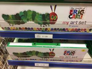 The world of Eric Carle art set 87 pieces £1.99 @ Buyology