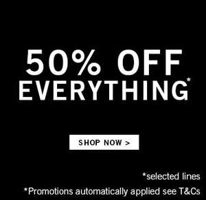 50% OFF EVERYTHING @ BOOHOOMAN