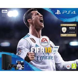 PS4 Slim 500GB with two controllers and FIFA 18 £229.95 John Lewis