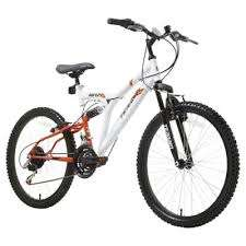 Terrain Dual Suspension 24 inch Wheel White Unisex Mountain Bike. £80 c&c at Tesco.