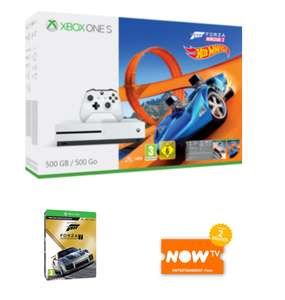 Xbox One S 500GB Forza Horizon 3 with Hot Wheels DLC + Forza Motorsport 7 Ultimate Edition + 2 months Now TV Entertainment Pass £219.99 @ Game