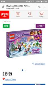Lego friends calender now available at argos on 3 for 2