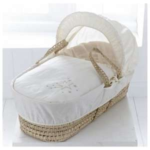 Clair de Lune Starburst Palm Moses Basket, Cream for £22.80 @ Tesco Direct (Free C&C)