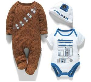 Disney Star Wars Gift Set  (0-3/6-9/12-18 Months) - 100% Cotton - now £9.59  @ Argos