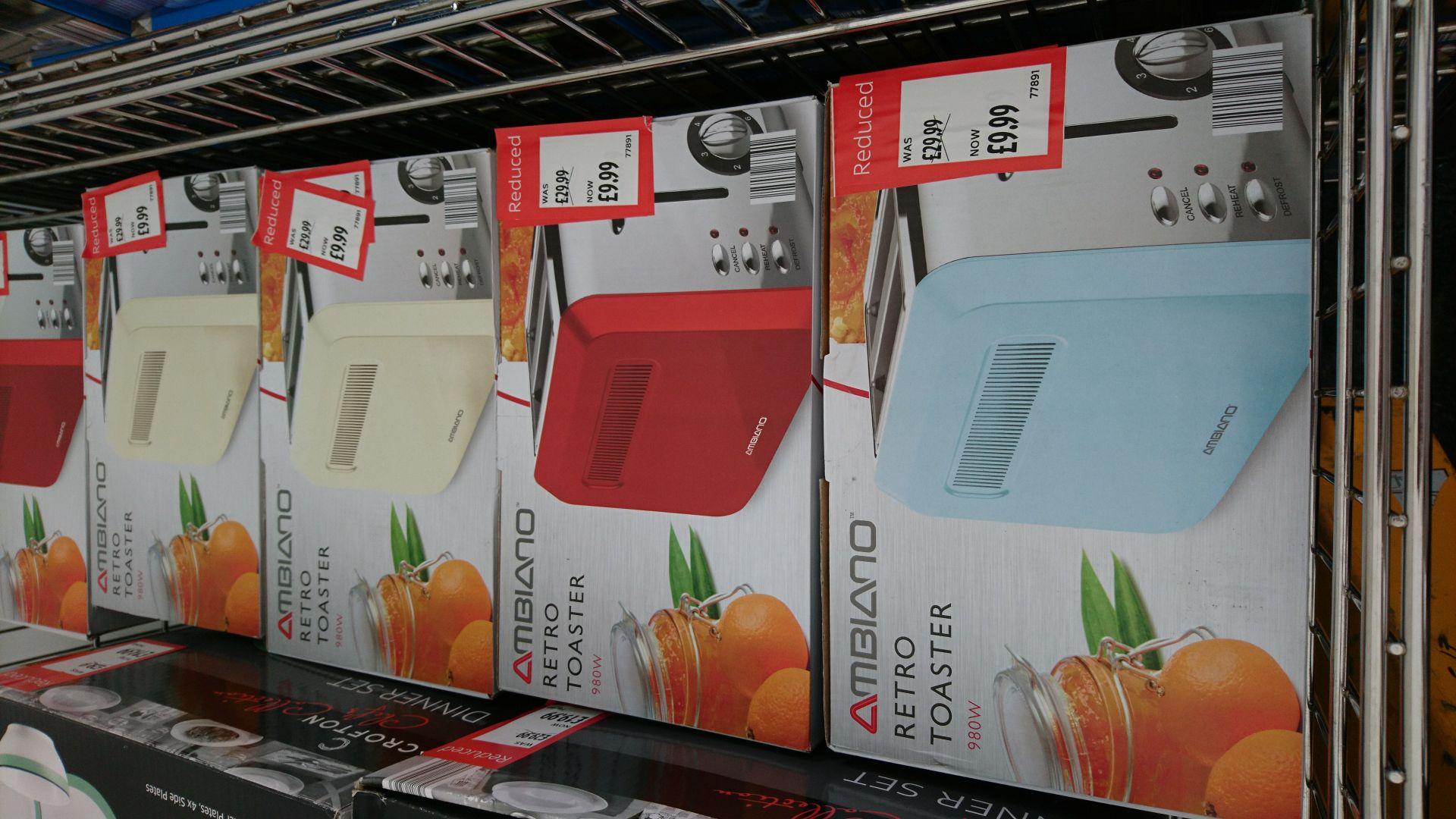 Ambiano retro toaster 3yr warranty £9.99 @ aldi instore - Dunston & Metro center