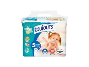 Toujours Size 5 Junior Nappies, 11 - 25kg (40 packs) £2.49 @ Lidl
