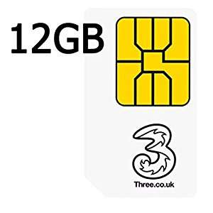 Three SIMO Deal - All You Can Eat Minutes & Texts, 12GB 4G Data, 12Gb Personal Hotspot, Go Binge, 12 month contract £12pm (£144 total contract cost) @ Three