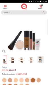 Bareminerals 6 Piece Master Finish BarePro Make-up Collection £44.91 delivered @ QVC