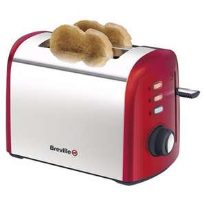 Breville - Red 2 slice toaster VTT381 £9 - Russell Hobbs stainless steel 2 slide toaster £12 - Russell Hobbs Stainless steel 4 slice toaster £19.50 @ Debenhams (plus free delivery)