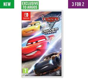 Cars 3 game PS4, xbox and Nintendo Switch - £39.99 @ Argos (3 for 2)