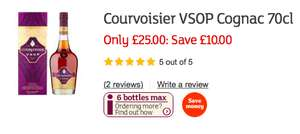 Courvoisier VSOP 70cl £25 at Sainsbury - instore and online