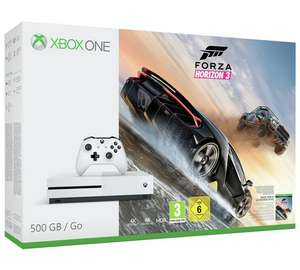 XBOX ONES 500GB WITH FORZA HORIZON 3 / MINECRAFT BUNDLE OR WITH FIFA 17 PLUS GET FIFA 18 RONALDO EDITON! DIGITAL DOWNLOAD FREE £199.90 @ Argos PLUS (CASHBACK AT 1 % TRACKED for Store collection only).