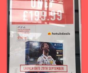 Ps4 Slim 500gb with FIFA 18 £199.99 @ Argos (Online &  Instore) - Now live