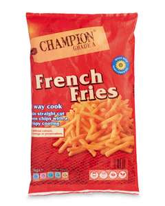 Aldi Champion French Fries 1Kg for 69p was 79p.