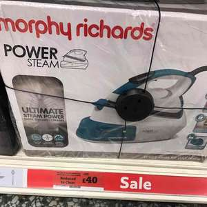 steam generator iron £40 @ Sainsbury's East Kilbride