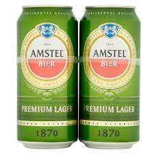 Amstel beer 4x440ml cans with free Amstel Toughned Pint Glass £2.50 POSSIBLY only 50p after quidco @Asda in store only
