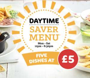 5 Dishes at £5 and £6 Steak & Chips @ Beefeater