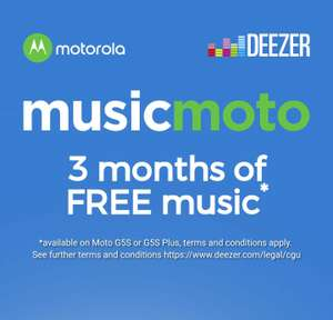 FREE 3 months of Deezer after purchasing Moto G5S, G5S Plus,   (G5s currently £229@ J ohn Lewis , available  to claim from other stores too)