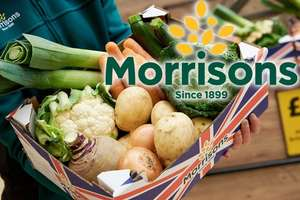 Morrisons to launch wonky veg box (4.2kg) £3 from Monday 2nd October @ Morrisons online