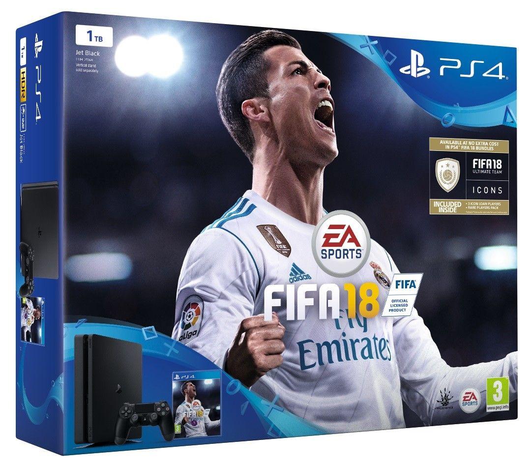 Playstation 4 Slim 1 TB with FIFA 18 Bundle £229.99  Shopto on eBay +  TopCashback at 1 %.