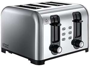 Russell Hobbs 4-Slice Wide Slot Toaster 23540 - Brushed/Polished Stainless Steel £19.50 (Prime) / £24.25 (non Prime) at Amazon