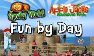 Edit 13/10 - New code Family Ticket (2A + 2C) to Fun by Day, Spooky World at Apple Jacks Farm normally £44 just £22.10 with code @ Groupon (inc Half Term + Kids under 4 Go FREE)