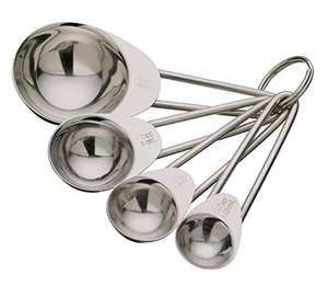 Stainless Steel Four Piece Measuring Spoon Set - 97p Amazon add-on item