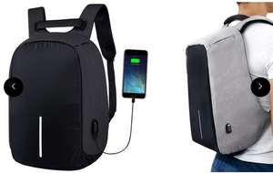 Anti-Theft Backpack with USB Charging Port £19.98 delivered at groupon - Cheaper than Amazon