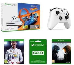 Xbox one s fifa 18 (released today) halo 5 extra controller (choice of colours) bundle £240 - Currys