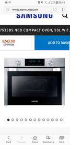 STEAM CLEANING DOUBLE FAN 50LTR OVEN BY SAMSUNG £243 -  Its a steal for this price on the weekend only