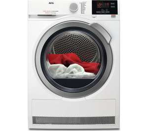 AEG ProSense T6DBG822N Condenser Tumble Dryer - White £379 at Currys