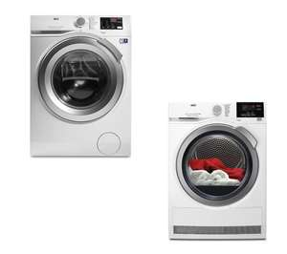 AEG ProSense T6DBG822N Condenser Tumble Dryer & 8 kg 1400 Spin Washing Machine Bundle - £724.99 - Currys