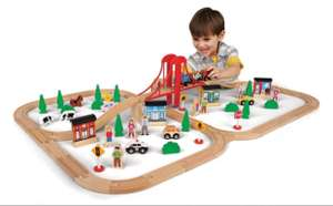 81 Piece Mega Value Wooden Train Set  £29.98 - Toys R Us