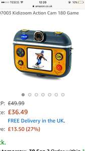 Vetch kidizoom action cam (new model) £36.49 @ amazon